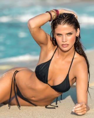 traje de bano bronceado perfecto bikini con top y calzon anudables-700- Black-MainImage