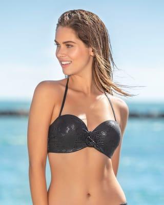 shiny halter bikini top-700- Black-MainImage