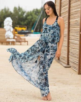 vestido largo de playa-509- Blue-MainImage
