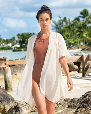 tassel beach cover-up kimono-018- Ivory-MainImage