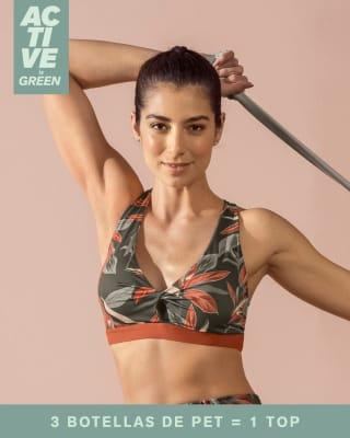 eco-friendly sports bra - medium-impact support-798- Gris Estampado-MainImage