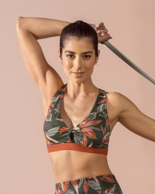 eco-friendly sport bra - medium support-798- Gris Estampado-MainImage
