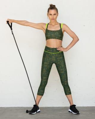 high-waisted graphic active capri legging-183- Green-MainImage