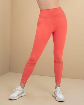 legging deportivo de tiro alto sin costuras con fajon doble tela en cintura y mallas transpirables-358- Coral-MainImage