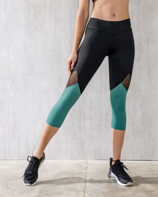 high-waisted capri with breathable cutouts--MainImage