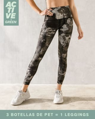 eco-friendly abstract graphic slimming legging--MainImage