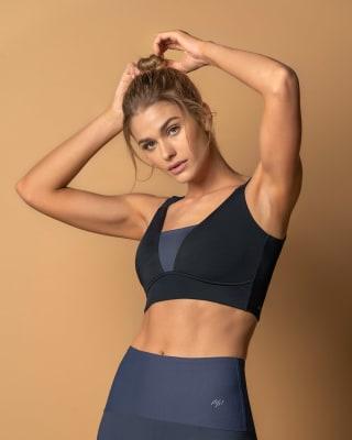 soft color block high coverage sports bra-701- Multicolor-MainImage