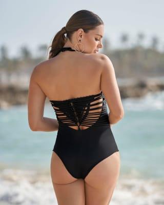vestido de bano strapless con macrame y control suave de abdomen-700- Negro-ImagenPrincipal