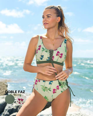 bikini doble faz copas removibles panty tiro medio acordonable-662- Verde Medio-MainImage