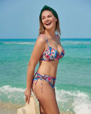 bikini con copas que soportan el pecho y braguita lateral graduable-545- Estampado Azul-ImagenPrincipal
