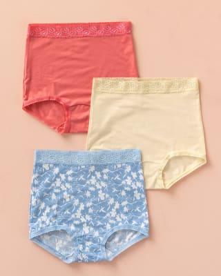 paquete x 3 confortables panties clasicos de ajuste y cubrimiento total--MainImage