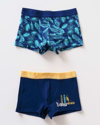 paquete x 2 boxers leo en algodon  para ninos-S38- Azul Estampado - Azul Oscuro-MainImage