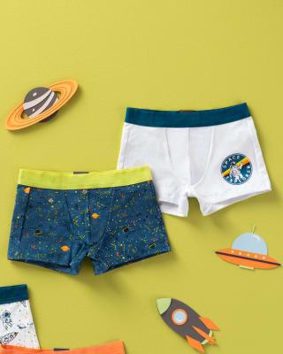 paquete x2 boxers en algodon para ninos-S39- Azul Estampado / Fondo Blanco-MainImage