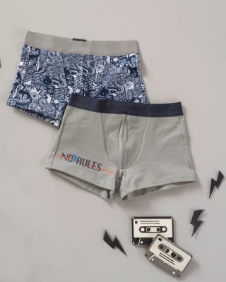 paquete x 2 boxers leo en algodon  para ninos-S44- Estampado / Fondo Gris-MainImage