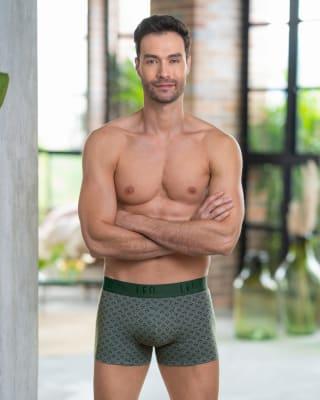 paquete x2 boxers cortos en algodon elastico-S43- Fdo Gris Medio / Azul Claro-MainImage