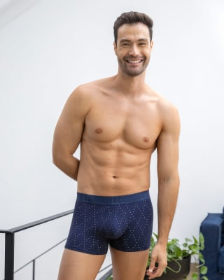 paquete x2 boxers cortos en algodon elastico-S47- Verde Oscuro / Azul Estampado-MainImage