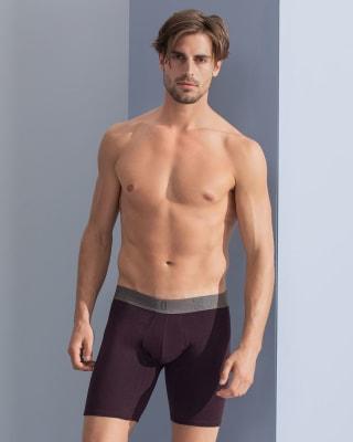 leo shorts mit cotton plus 2er pack-S42- Wine/Printed Wine-MainImage