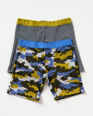 paquete x 2 boxer largo en algodon para nino-S02- Camuflado / Gris Medio-MainImage