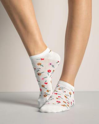 calcetines tobilleros en paquete x 2-968- Flores / Gris-MainImage