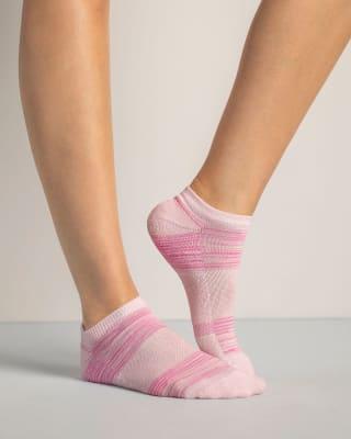 calcetines tobilleros deportivos en paquete x 2-968- Rayas Rosado / Rayas Azul-MainImage