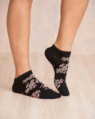 paquete x 2 calcetines tobilleros flores y fondo entero-968- Surtido-MainImage
