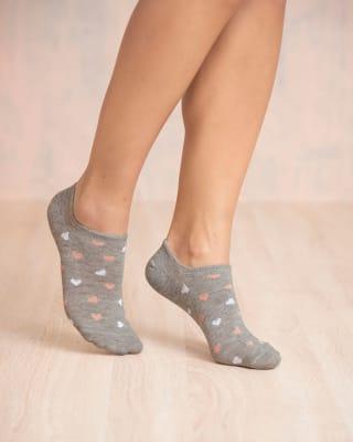 paquete x 2 calcetines tipo baleta tenis con corazones-968- Surtido-MainImage