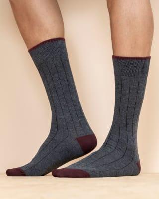 paquete x 2 calcetines casuales gris y vino-968- Surtido-MainImage