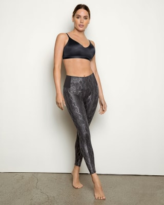 faux snakeskin shaper leggings--MainImage