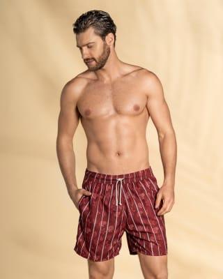 pantaloneta de bano para hombre con cordon ajustable-336- Rojo-ImagenPrincipal