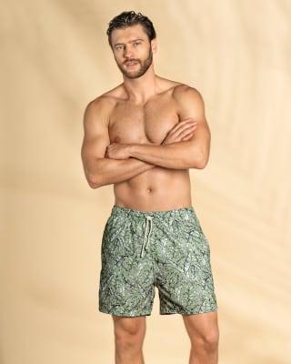 pantaloneta de bano masculina con malla interna y bolsillos laterales-662- Verde-ImagenPrincipal