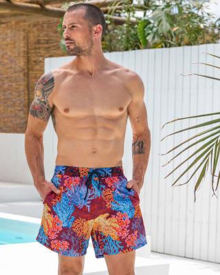 pantaloneta de bano masculina elaborada con material de pet reciclado-382- Vino Tinto Medio-ImagenPrincipal