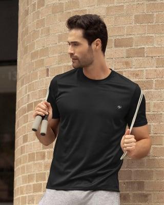 camiseta deportiva masculina semiajustada de secado rapido-700- Black-MainImage