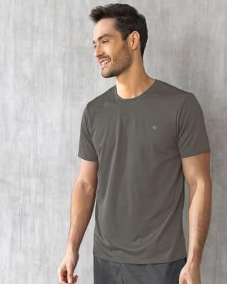 camiseta deportiva masculina semiajustada de secado rapido-721- Gris-MainImage