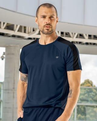 camiseta deportiva secado rapido con bloques de color en hombros y espalda-540- Azul-MainImage