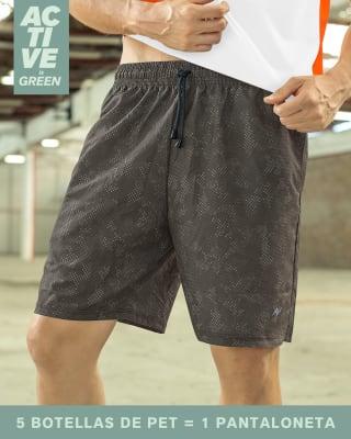 pantaloneta deportiva con acabado antifluidos elaborada en pet reciclado-700- Negro Estampado-MainImage