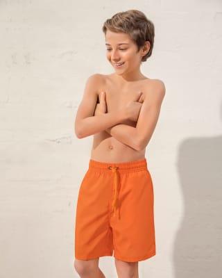 kids eco-friendly swim trunks - made of recycled plastic-260- Naranja-MainImage