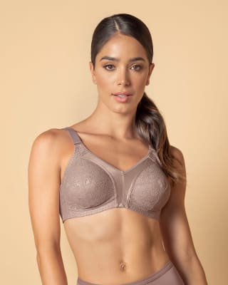 full coverage bra in lace with smooth control--MainImage
