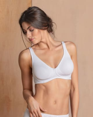 wireless triangle bra with supportive design--MainImage