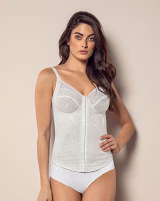 moderate shaping corset  built-in bra-000- White-MainImage