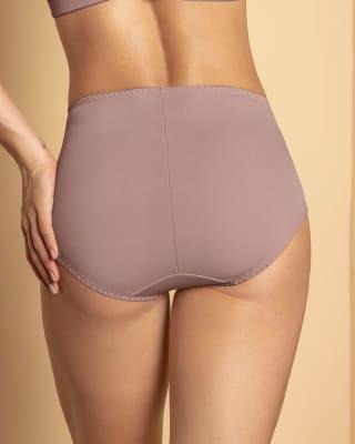 panty clasico de control suave con toques de encaje en abdomen--MainImage