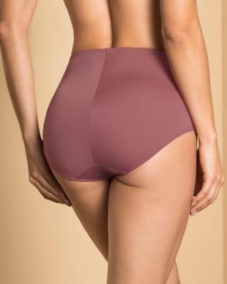 panty clasico de control con toques de encaje en abdomen-283- Terracota-MainImage