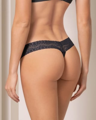 low rise thong in elastic lace--MainImage