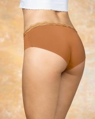 panty hipster con encaje en cintura tiro medio-206- Ocre-MainImage