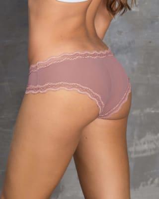 paquete x2 panty cachetero con toques de encaje-S10- Palo de Rosa / Rojo Oscuro-ImagenPrincipal