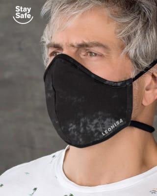 tapabocas hermetico proteccion triple capa tecnologia antifluido y antibacterial-145- Negro Estampado-MainImage