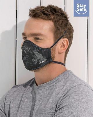 tapabocas hermetico proteccion triple capa - antifluido y antibacterial - unisex-145- Negro Estampado-ImagenPrincipal