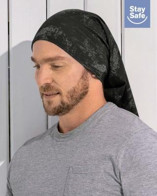 braga de cuello multifuncional antifluidos - unisex-145- Negro Estampado-ImagenPrincipal