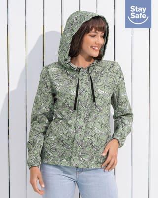 chaqueta femenina antifluidos con tapaboca removible-662- Verde Estampado-MainImage