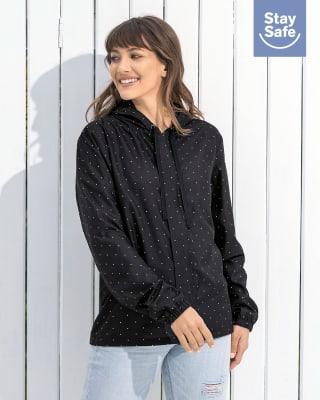 chaqueta femenina resistente a la humedad con mascarilla removible-780- Black-ImagenPrincipal