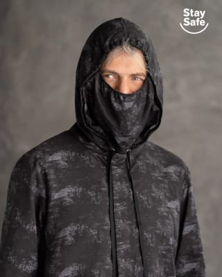 chaqueta masculina de proteccion resistente a la humedad-145- Negro Estampado-ImagenPrincipal
